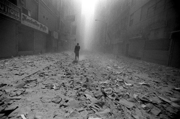 9-11 empty street