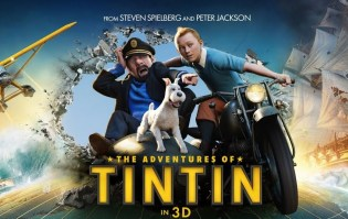 Poster for the Adventures of Tintin by Peter Jackson & Steven Spielberg
