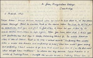 Letters to an Oxonian Lady: C.S. Lewis' Relationship with Mary Neylan