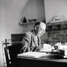 C.S. Lewis at his desk