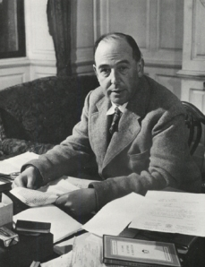 Lewis at His Desk