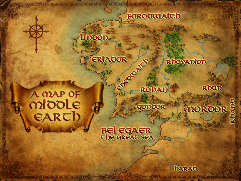Middle Earth map – Lord of the Rings Map Middle Earth