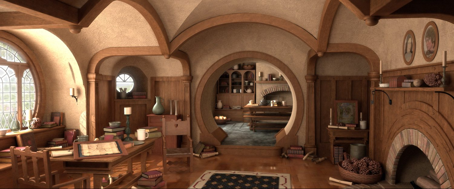 Bag End Inside Hobbit on Floor Plans House Home Design Your Ring Cabin