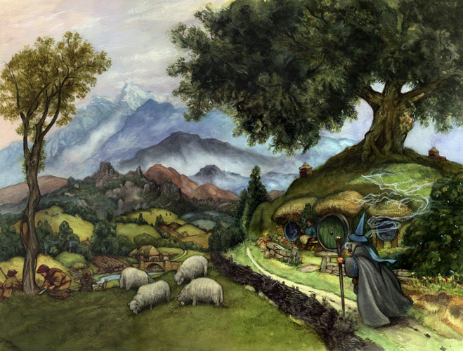 Hobbit bag end gandalf a pilgrim in narnia - Lord of the rings book ends ...