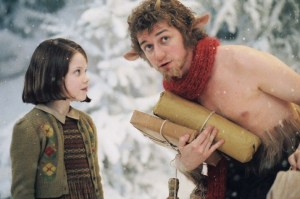 Tumnus & Lucy with Christmas packages