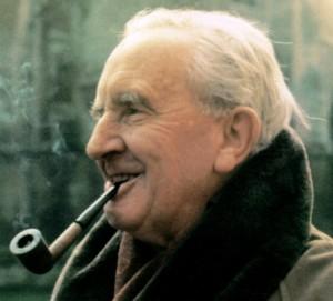 J R R Tolkien - Smoking Pipe Outdoors