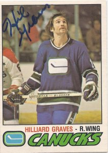 My card isn't signed, but here is my Hilliard Graves inspiration