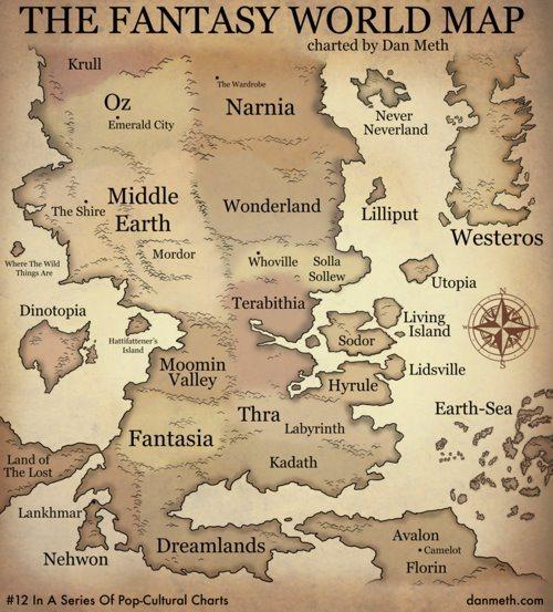 Dan Meth Fantasy Map
