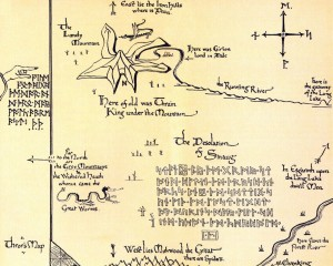 The Hobbit Shire Map Tolkien