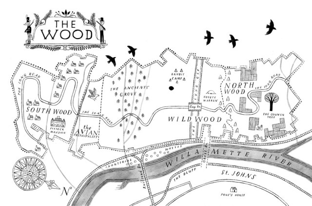 Map of the Wood Wildwood Ellis Meloy