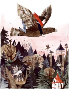Prue Riding the Eagle Wildwood by Carson Ellis