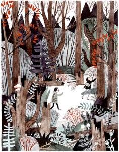 Walking In Wildwood Carson Ellis drawing