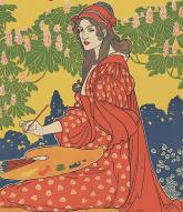 woman artist 19th c