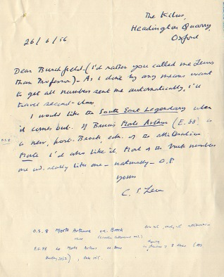 Lewis Letter 1956