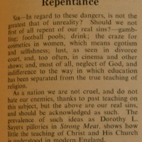 "Letters to the Editor in Response to C.S. Lewis' ""Dangers of National Repentance"""