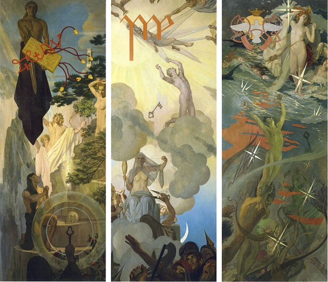 hound of heaven 3 panels Ives Gammell.