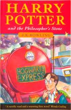 "This photo released by Heritage Auction Galleries of Dallas shows A 1997 softcover edition of the first Harry Potter book, Harry Potter and The Philosopher's Stone, that sold for a record $19,120 in a rare books auction conducted online by Heritage Auction Galleries, March 6 and 7, 2009.  The anonymous winning bidder is from Dubai in the United Arab Emirates and is described by the auction house as ""a collector of vintage comic books whose wife is a huge fan of the Harry Potter series.""  (AP Phoyo/Heritage Auction Galleries)"