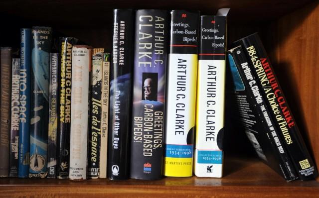 arthur c clarke bookshelf