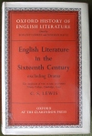 OHEL English Literature in the Sixteenth Century Excluding Drama CS Lewis