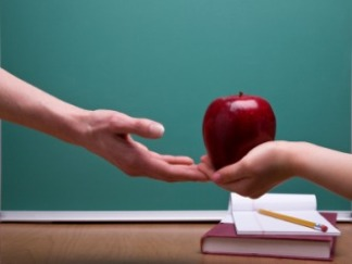 teacher-apple student