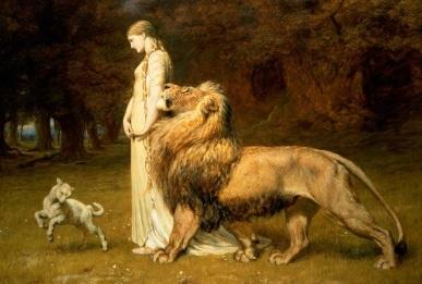Una and the Lion by Briton Rivière-The Faerie Queene