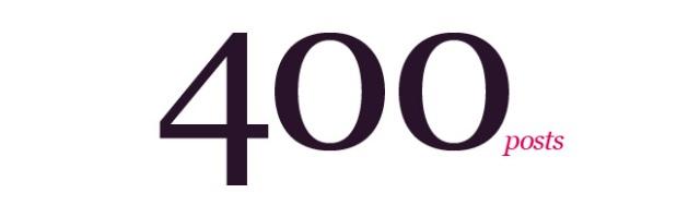 400 posts blog