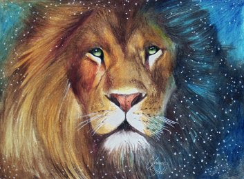 _aslan in the snow