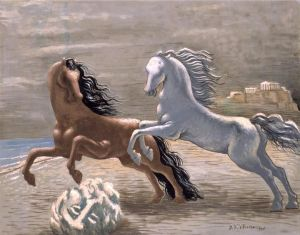 Di Chirico Horses beside the Sea 1928De Chirico