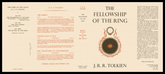 Fellowship of the Ring 1st edition dust jacket