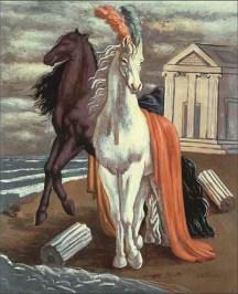 Giorgio de Chirico-horses of Agamémnon