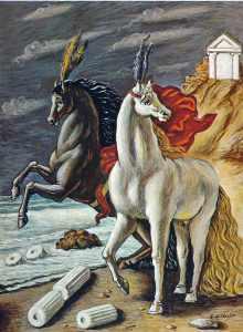 The divine horses - Giorgio de Chirico