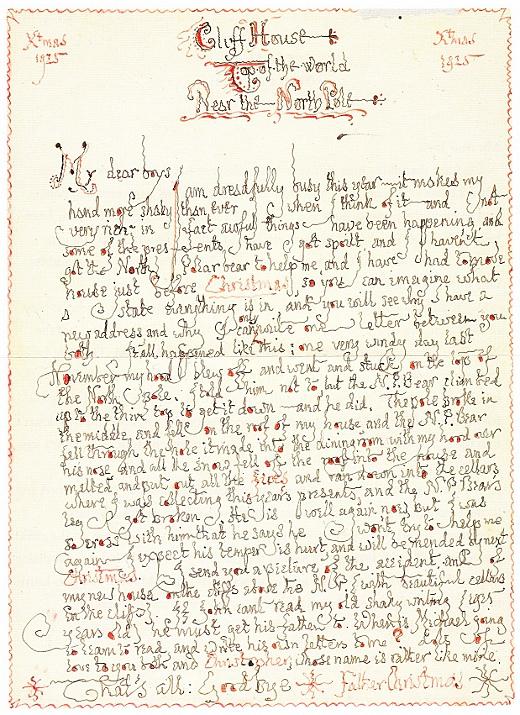 tolkien-original christmas letter