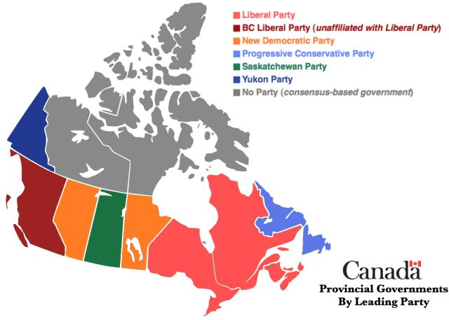canada provincial parties