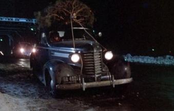 christmas story tree car