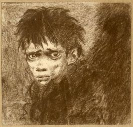 Jo, the Crossing Sweeper from Bleak House (Charles Dickens), by Mervyn Peake Peaks