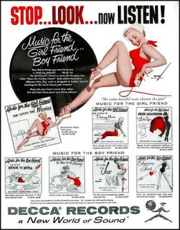 old record sexy ad