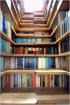 beautiful bookshelf design stair