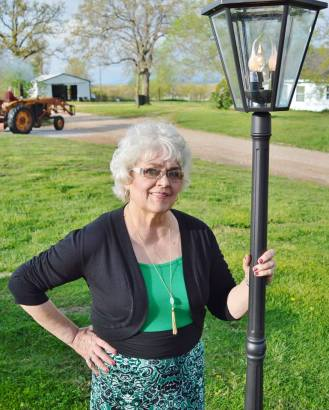 Judy Carlson_White Knight Author_By HER Lampost_Missouri's Ozark_At Her StoneRidge Cottage