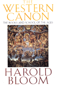 Harold Bloom western canon
