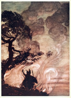 Arthur Rackham WAGNER`S RING CYCLE-wotan