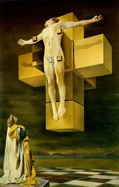Crucifixion (Corpus Hypercubus), 1954, by Salvador Dalí cross