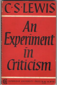 cs lewis an experiment in criticism 4