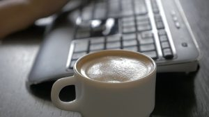 keyboard-coffee-writing