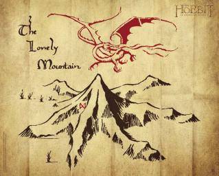 tolkien-lonely-mountain-in-the-hobbit