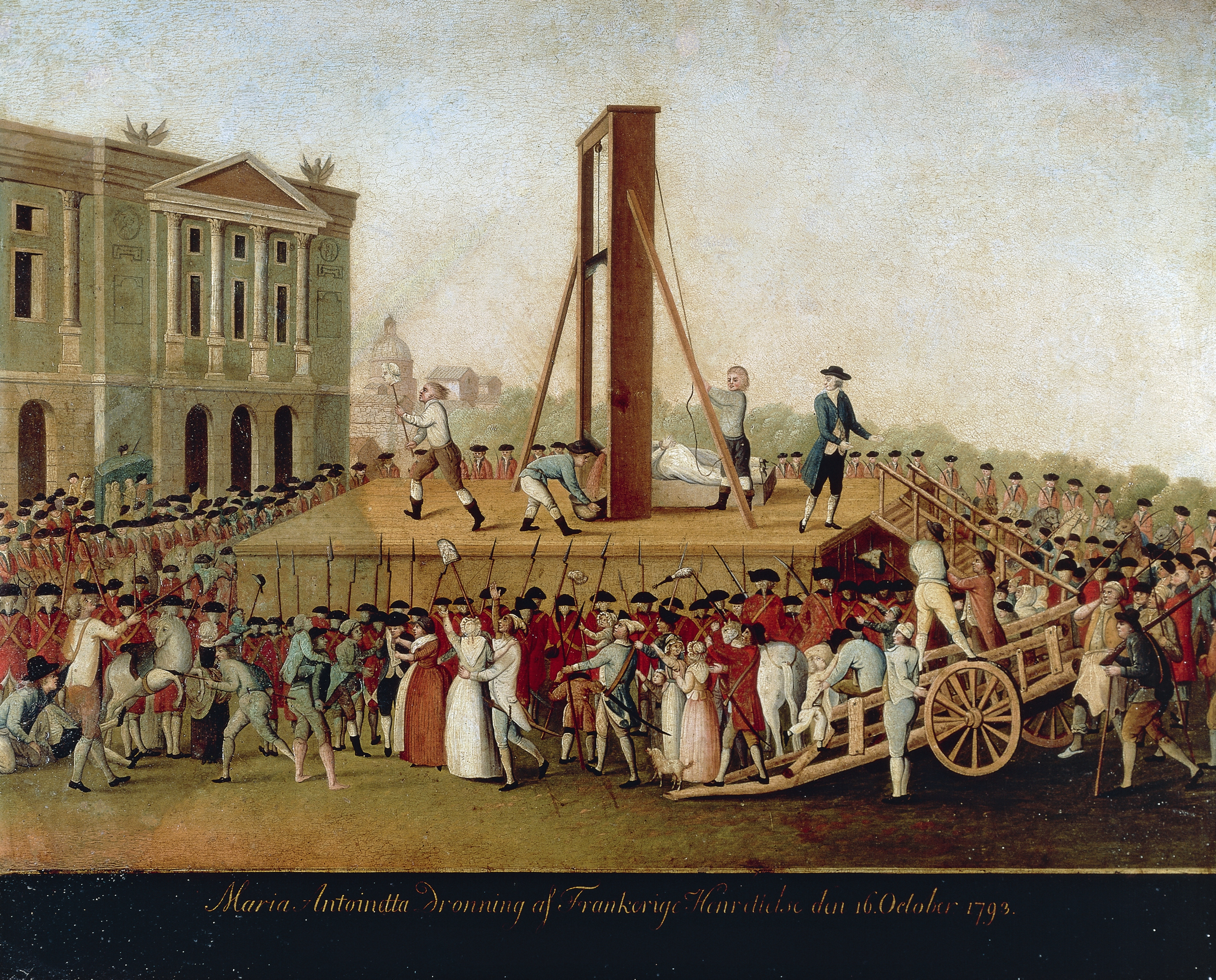 execution of marie antoinette painting