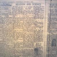 "C.S. Lewis' ""Religion and Science"" in the Saturday Evening Telegraph (Friday Feature)"