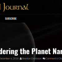 """(Re)Considering the Planet Narnia Thesis"": My Article in An Unexpected Journal"