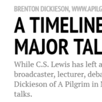 A Timeline of C.S. Lewis' Major Talks