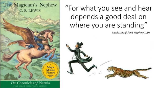Lewis what you see depends on where you stand magician's nephew quote