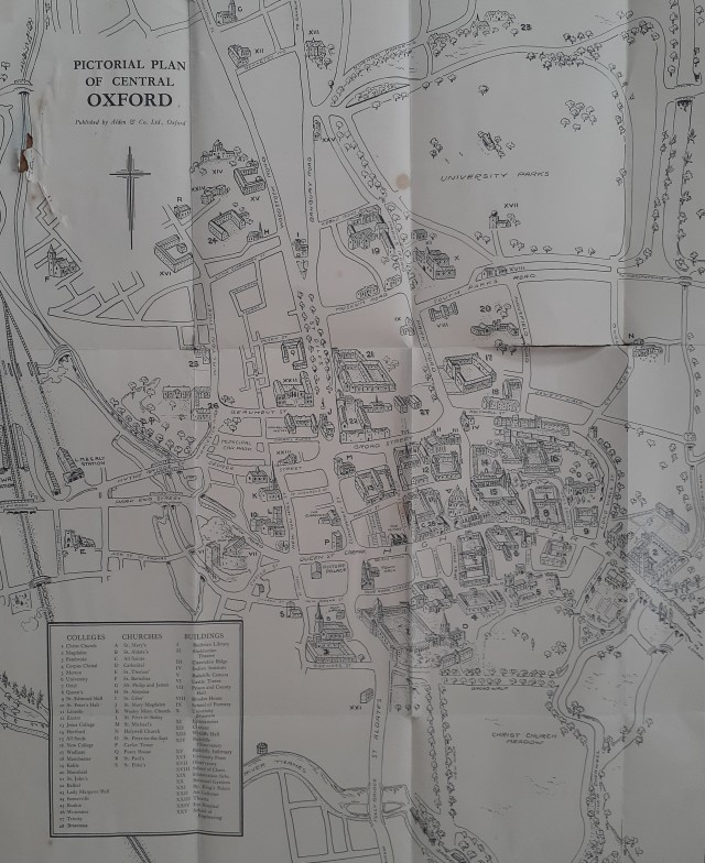 Oxford Centre Pictorial Map